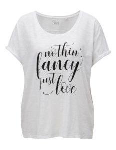 Biele dámske tričko s potlačou ZOOT Just love