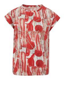 Bielo-červené dievčenské tričko s potlačou name it Julie