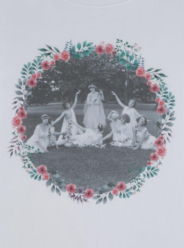 Biele dámske tričko s potlačou ZOOT Rozlúčka