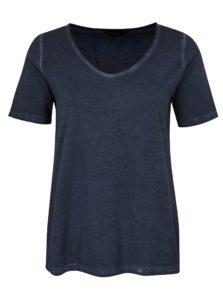 Tmavomodré tričko Ulla Popken