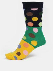 Modro-žlté dámske bodkované ponožky Happy Socks
