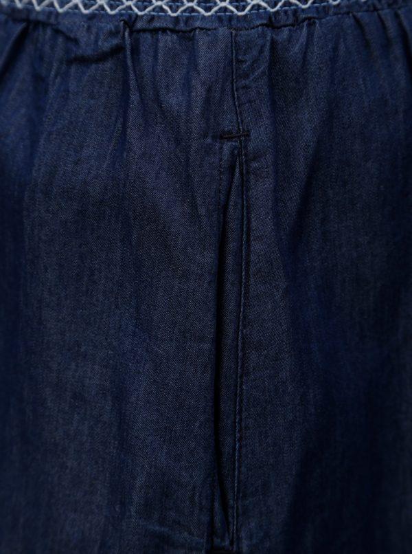 Tmavomodrá sukňa s gumou v páse Ulla Popken