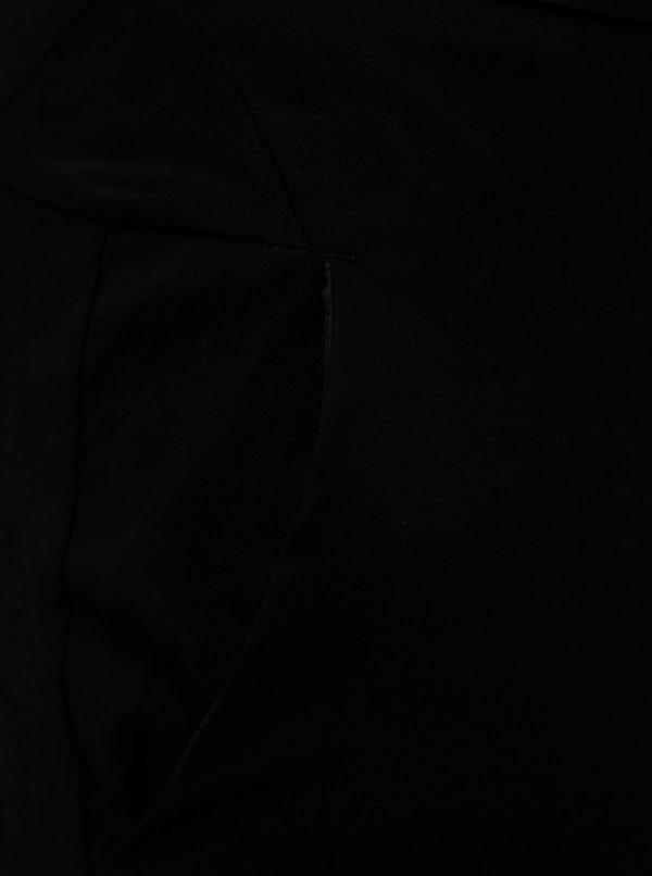 Čierne slim fit nohavice Ulla Popken