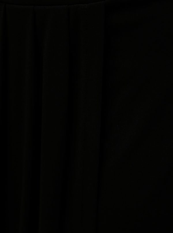Čierna sukňa s riasením Ulla Popken