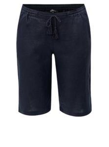 Tmavomodré ľanové nohavice Ulla Popken