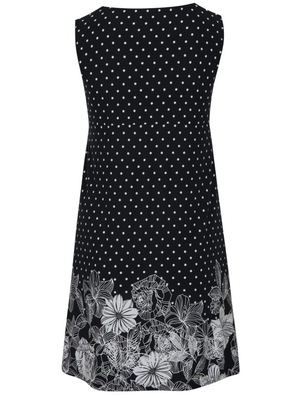 Tmavomodré vzorované šaty s vreckami Ulla Popken