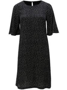 Čierne vzorované šaty s 3/4 rukávom Ulla Popken
