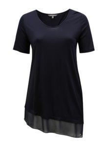 Tmavomodré asymetrické tričko Ulla Popken