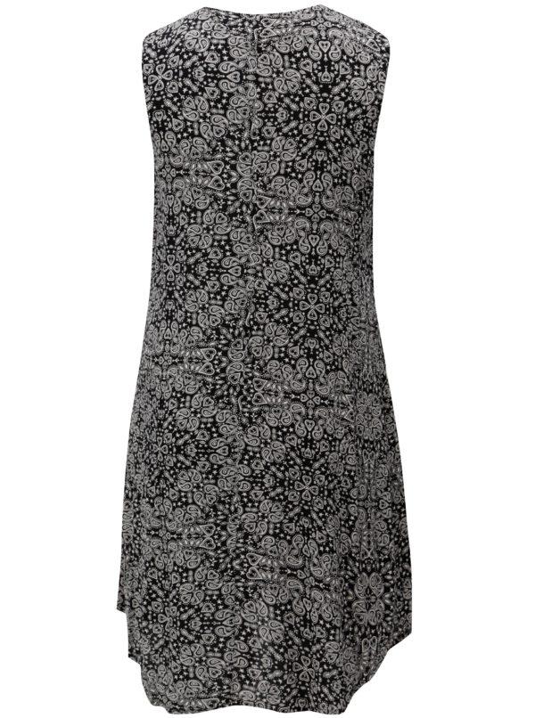 Bielo-čierne vzorované šaty Ulla Popken