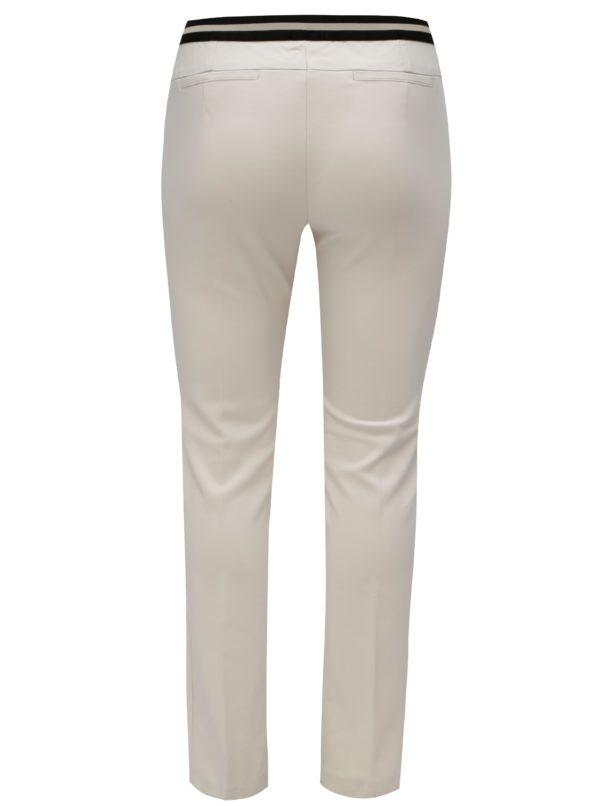Krémové slim nohavice s gumou v páse Ulla Popken