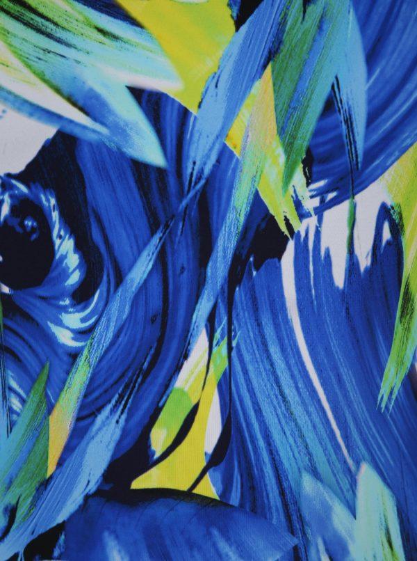 Modré jednodielne vzorované plavky Ulla Popken
