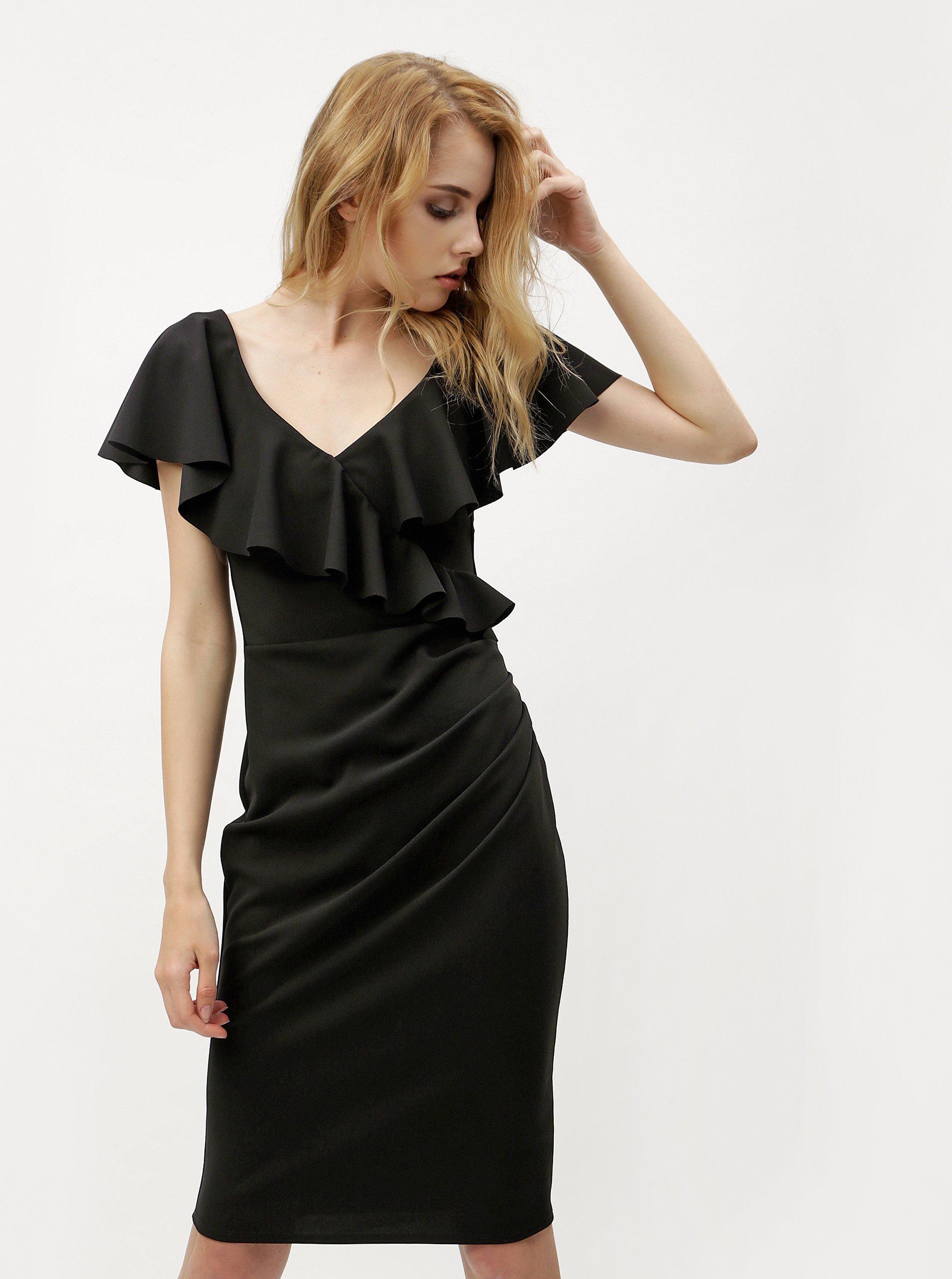 Čierne šaty s volánmi ZOOT  971cceb20d5