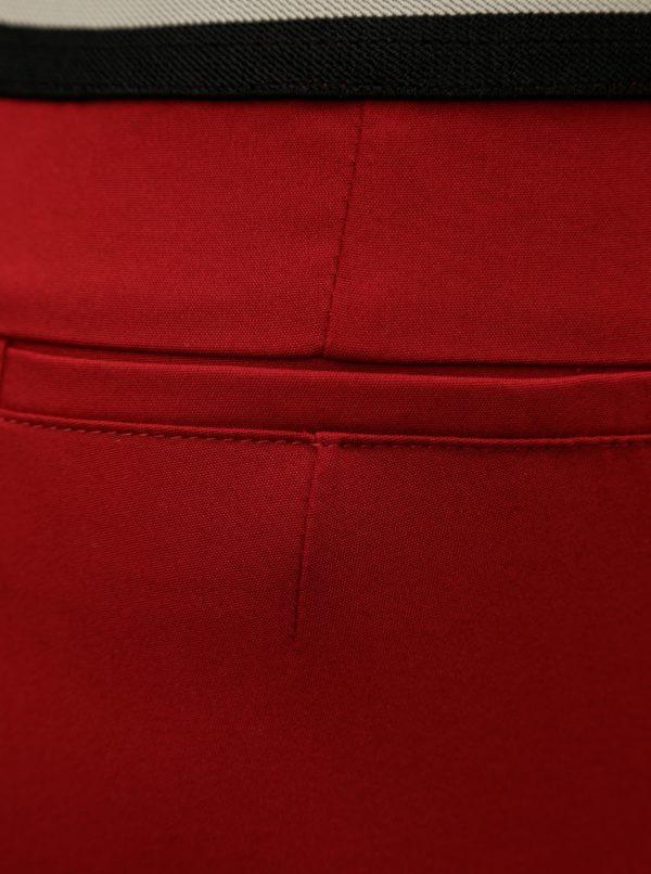 Červené slim nohavice s gumou v páse Ulla Popken