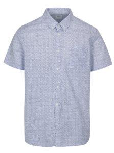 Bielo-modrá vzorovaná košeľa Burton Menswear London