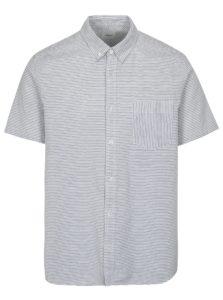 Modro-biela pruhovaná košeľa Burton Menswear London