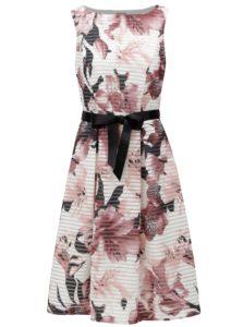 Ružovo-biele pruhované kvetované šaty M&Co