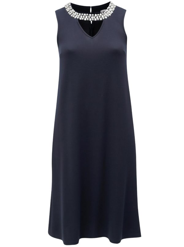 Tmavomodré šaty s aplikáciou Ulla Popken