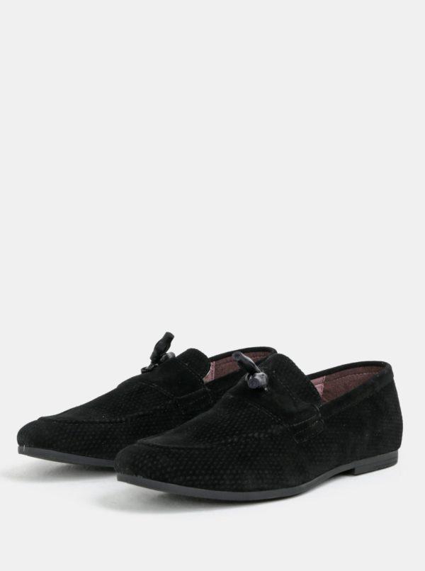 Čierne mokasíny Burton Menswear London