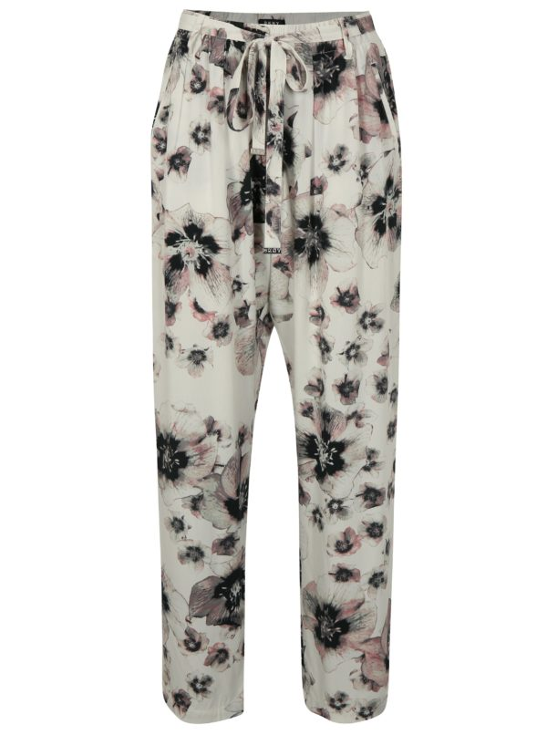 Biele vzorované nohavice DKNY