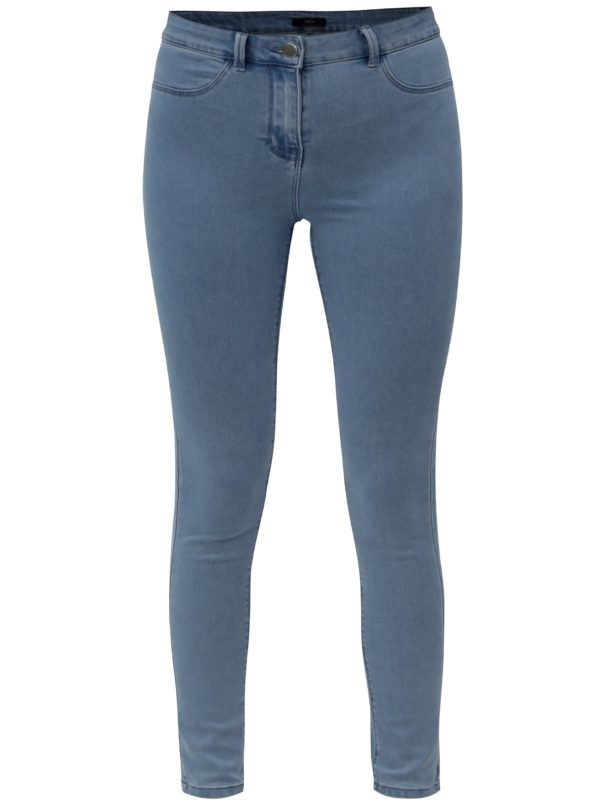 Modré jeggings M&Co