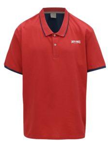 Červená polokošeľa s logom Jack & Jones Retro Jack