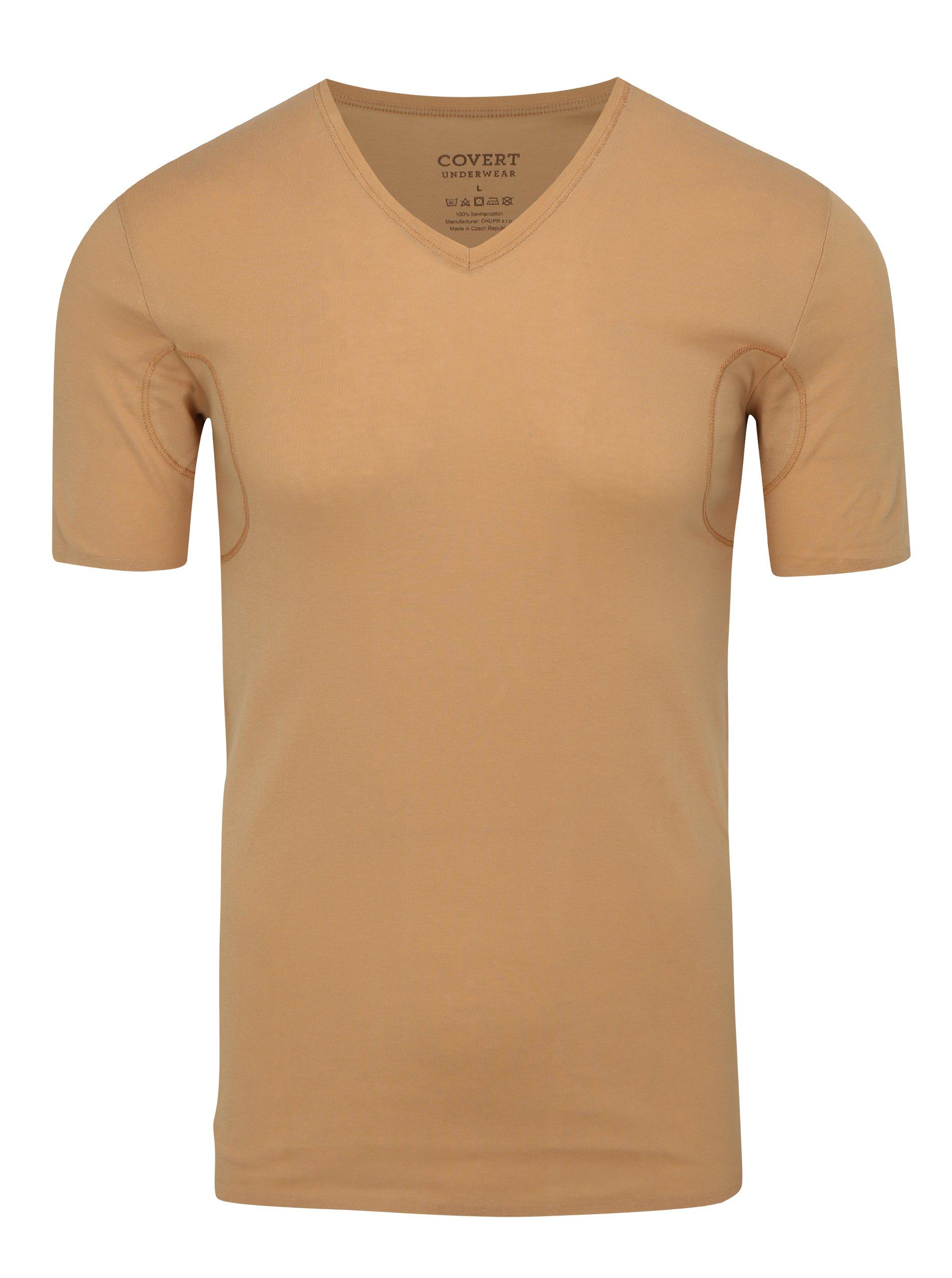 2678324b6 Telové skinny tričko pod košeľu s potítkami Covert Underwear | Moda.sk