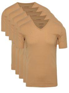 Sada piatich párov tričiek pod košeľu v telovej farbe s potítkami Covert Underwear