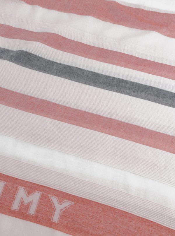 Červeno-biela šatka Tommy Hilfiger