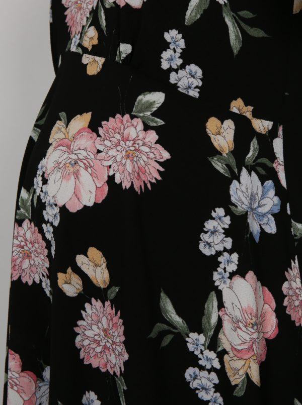 Čierne kvetované tehotenské šaty Dorothy Perkins Maternity