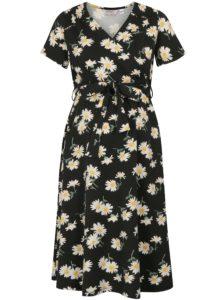 9e471390a662 Krémovo–čierne tehotenské kvetované šaty na dojčenie Dorothy Perkins  Maternity