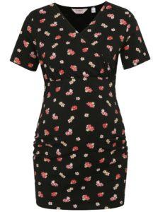cdfeb64f770 Čierne tehotenské kvetované dlhé tričko na dojčenie Dorothy Perkins  Maternity