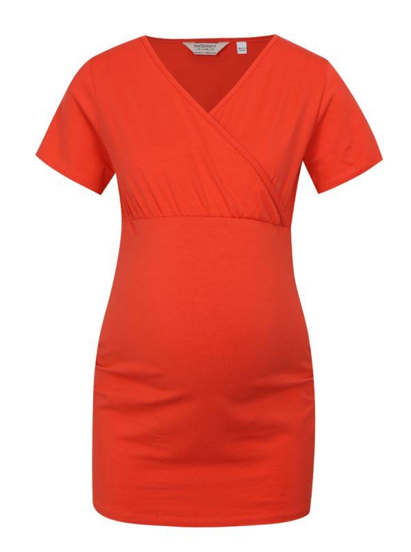 Červené tehotenské tričko na dojčenie Dorothy Perkins Maternity