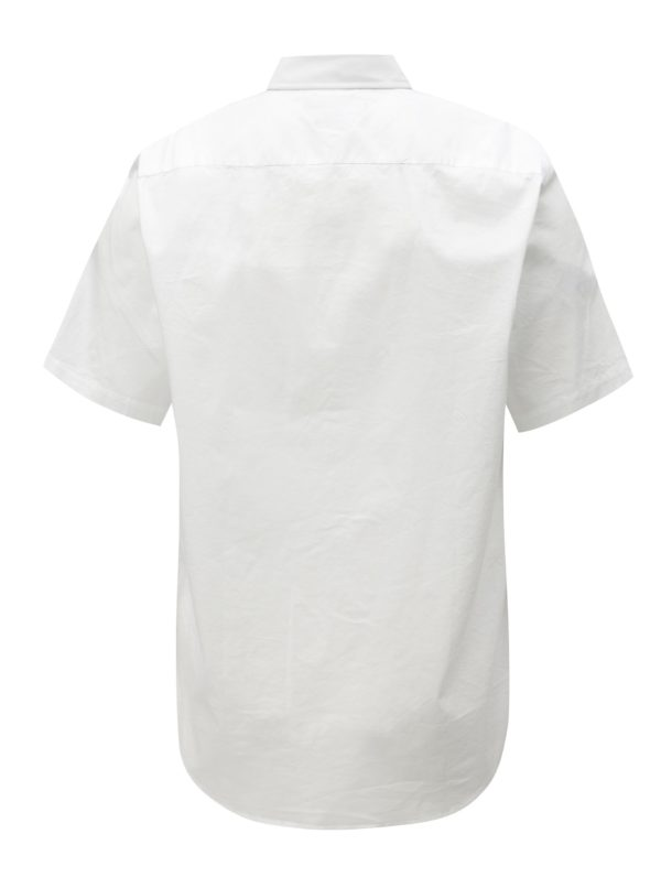 Biela pánska košeľa s krátkym rukávom Tommy Hilfiger