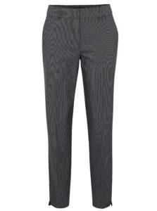 Sivé vzorované nohavice s klasickým pásom Dorothy Perkins