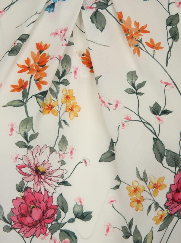 Biela kvetovaná blúzka Dorothy Perkins Curve