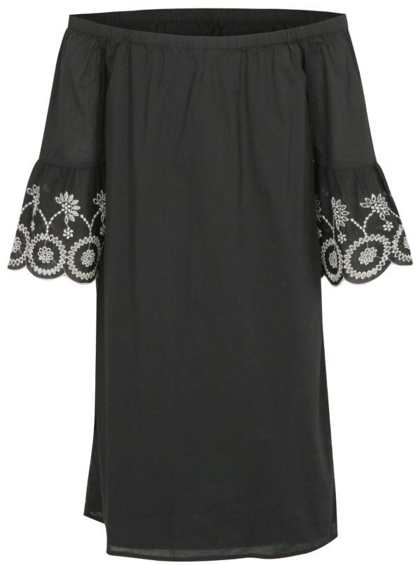Čierne šaty s odhalenými ramenami Dorothy Perkins