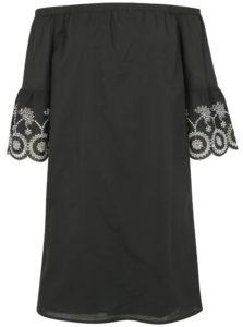 180e2af4e4da Čierne šaty s odhalenými ramenami Dorothy Perkins