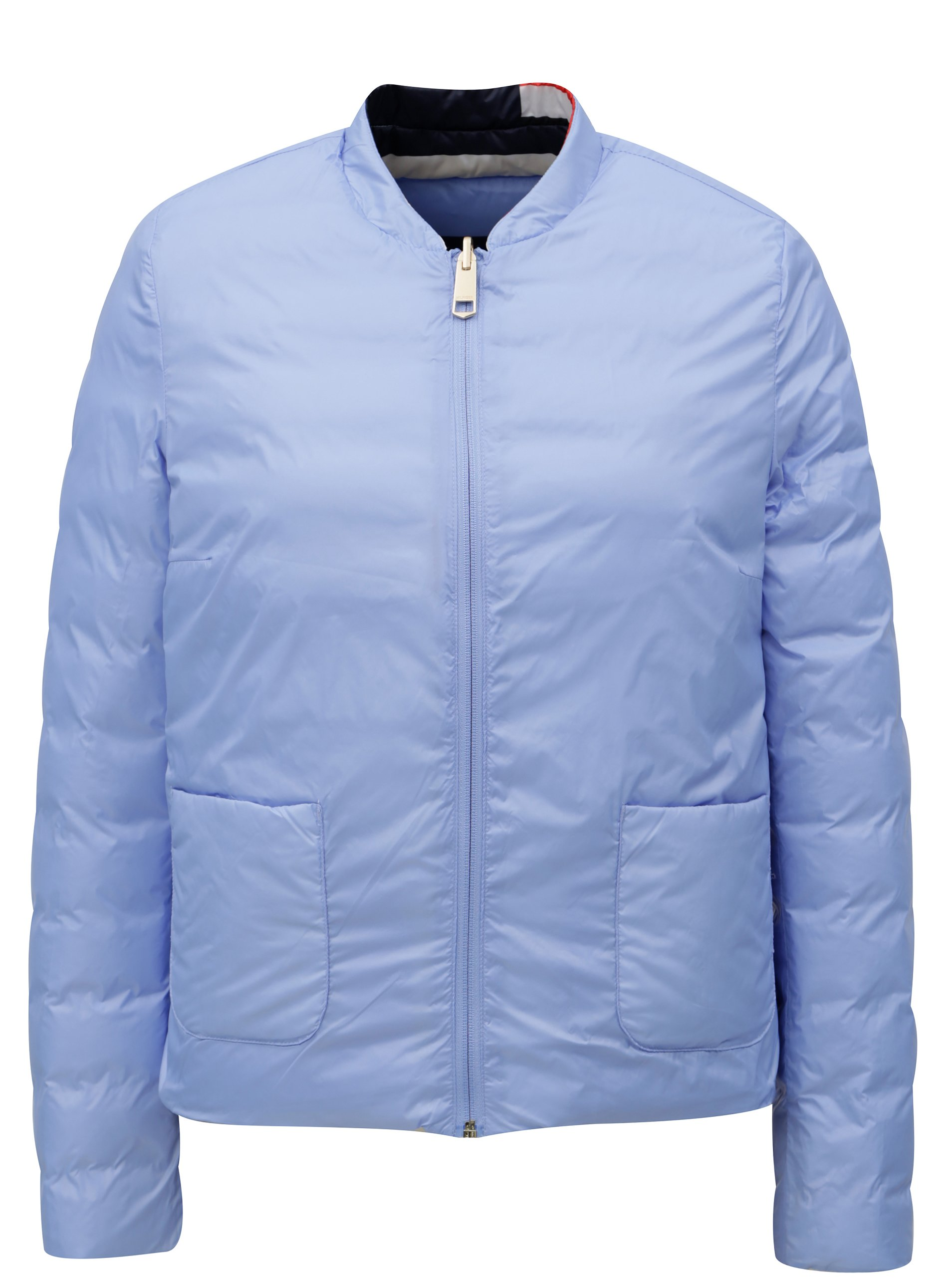 45fcdc5ad8e6 Červeno-modrá dámska vodovzdorná obojstranná páperová bunda Tommy Hilfiger