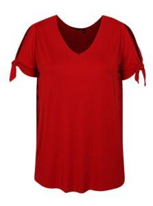 Červené tričko s krátkym rukávom Dorothy Perkins Curve