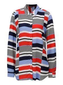 c758a33589 Červeno-modrá dámska pruhovaná košeľa Tommy Hilfiger