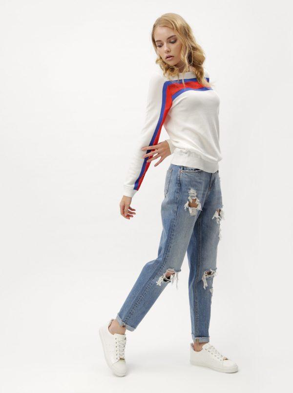 Biele dámske svetrové tričko s dlhým rukávom Tommy Hilfiger