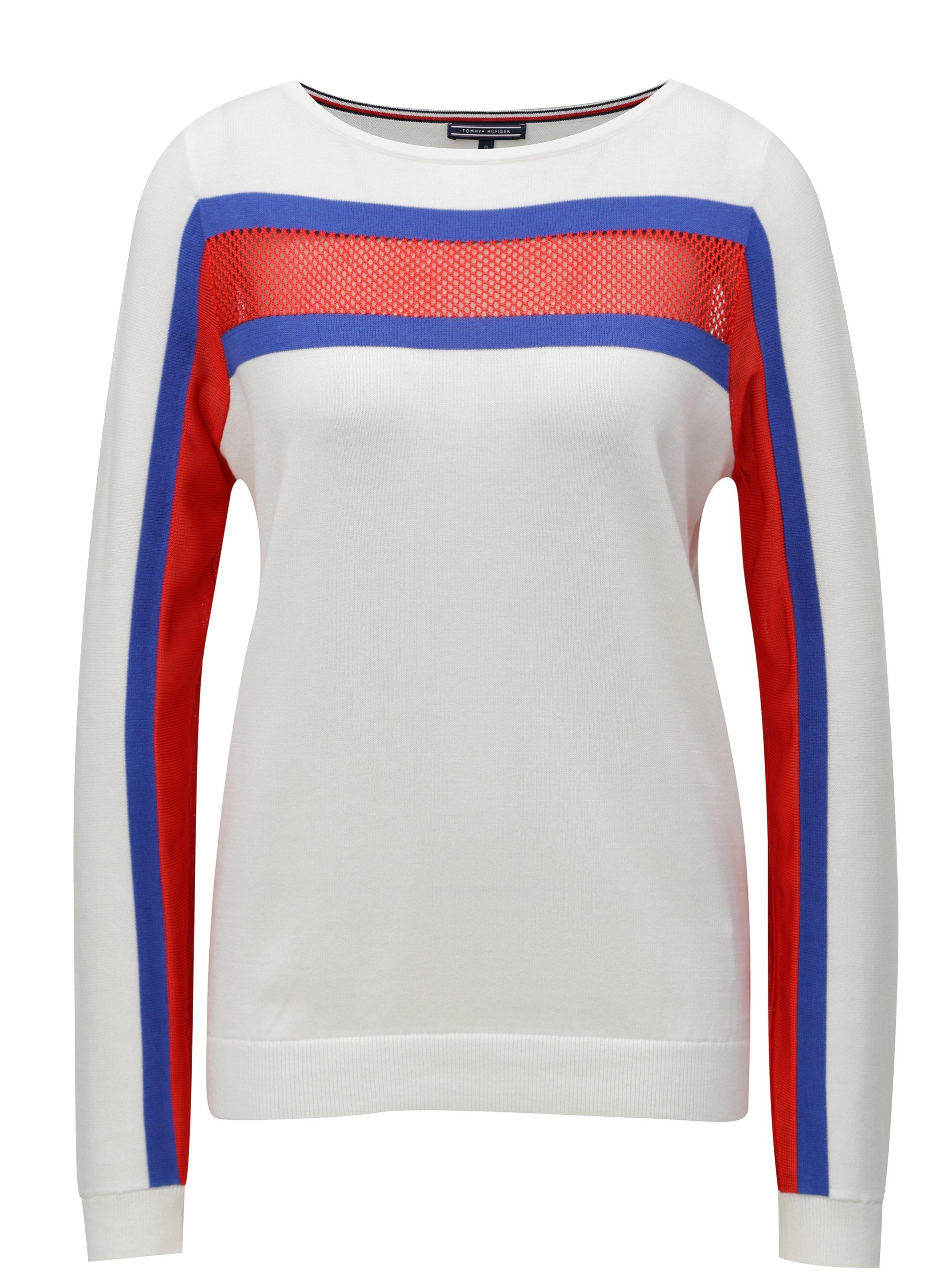 fedda45e41 Biele dámske svetrové tričko s dlhým rukávom Tommy Hilfiger