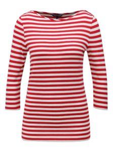 Bielo-červené dámske pruhované tričko Tommy Hilfiger