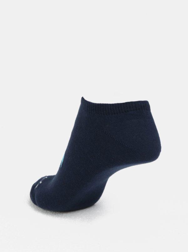 Tmavomodré unisex členkové ponožky Fusakle Plameniak