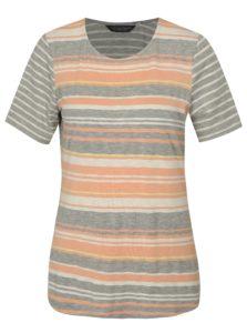Marhuľovo–sivé pruhované tričko Dorothy Perkins Tall