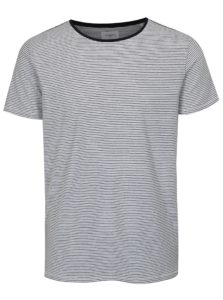 Biele pruhované tričko s krátkym rukávom Lindbergh