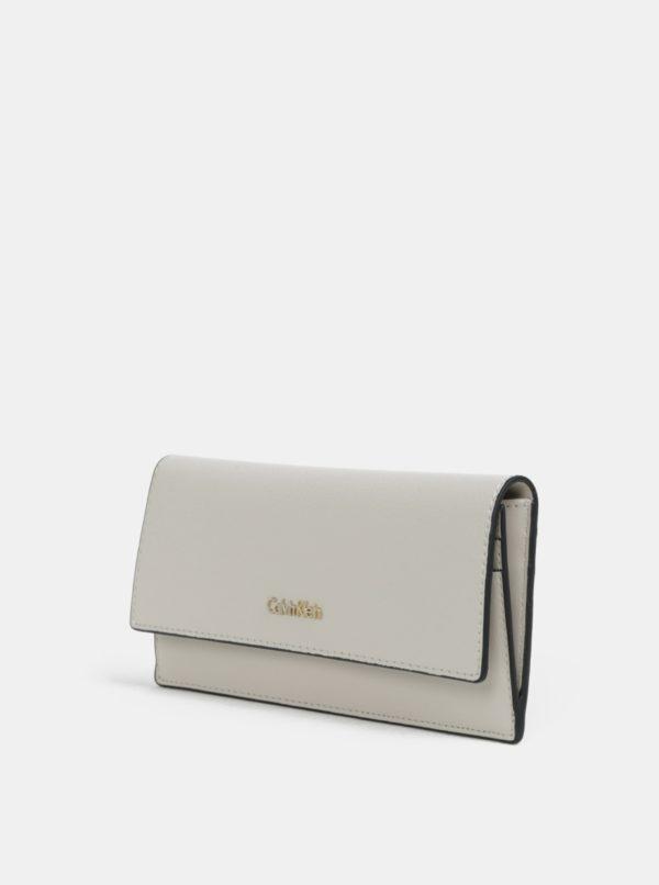 Béžová veľká dámska peňaženka Calvin Klein Jeans