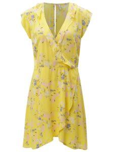 Žlté kvetované šaty Blendshe Kira