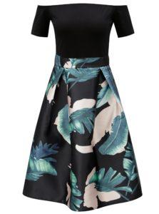 Čierne áčkové šaty s odhalenými ramenami AX Paris