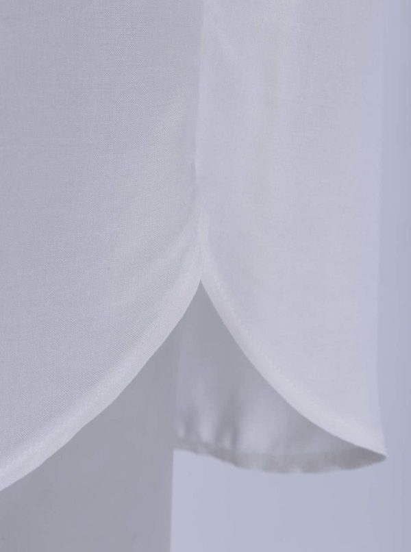 Krémové tričko s dlhším zadným dielom VERO MODA Boca